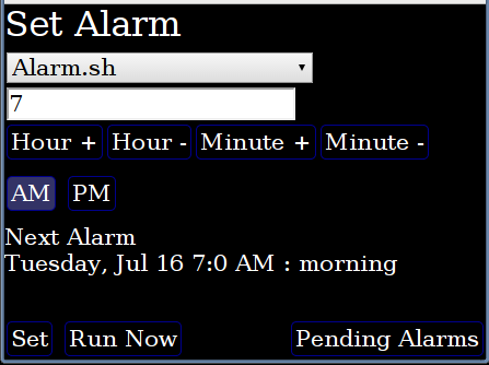 Ruby Web Alarm